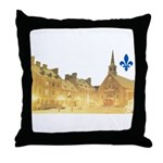 Inside Old Quebec with Lys Throw Pillow