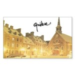 Inside Old Quebec with Signat Sticker (Rectangular
