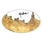 Inside Old Quebec with Signat Oval Sticker