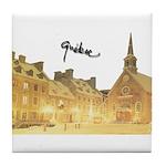 Inside Old Quebec Turned Sign Tile Coaster