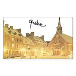 Inside Old Quebec Turned Sign Sticker (Rectangular