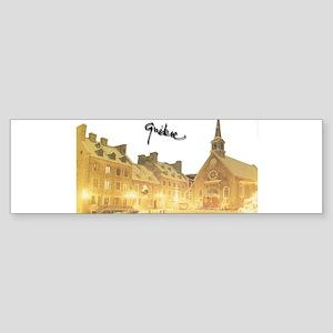 Inside Old Quebec Turned Sign Bumper Sticker