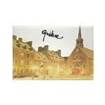 Inside Old Quebec Turned Sign Rectangle Magnet (10