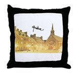 Inside Old Quebec Turned Sign Throw Pillow