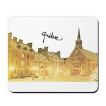 Inside Old Quebec Turned Sign Mousepad