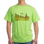 Inside Old Quebec Turned Sign Green T-Shirt