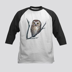 saw-whet owl dark shirt Baseball Jersey
