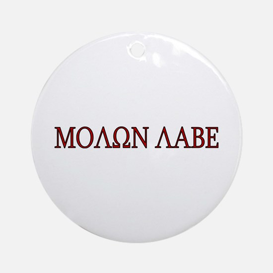 Molon Labe Ornament (Round)