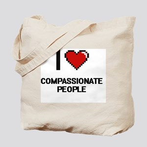 I love Compassionate People Digitial Desi Tote Bag