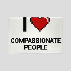 I love Compassionate People Digitial Desig Magnets