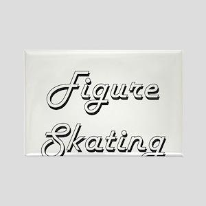 Figure Skating Classic Retro Design Magnets