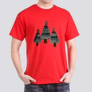 OLD FASHIONED CHRISTMAS TREES Dark T-Shirt