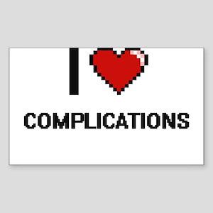 I love Complications Digitial Design Sticker