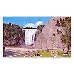 Montmorency Falls Quebec City Sticker (Rectangular