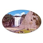 Montmorency Falls Quebec City Oval Sticker