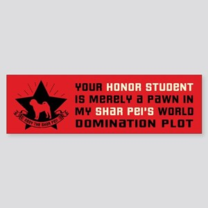 Shar Pei World Domination Bumper Sticker