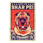 Obey the Shar Pei! Vintage Postcards -8 Pack!
