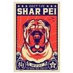 Obey the Shar Pei! Large Propaganda Poster
