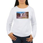 Montmorency Falls Quebec Sign Women's Long Sleeve