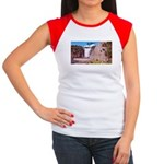 Montmorency Falls Quebec Sign Women's Cap Sleeve T