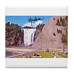 Montmorency Falls Quebec Sign Tile Coaster