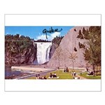 Montmorency Falls Quebec Sign Small Poster