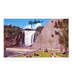 Montmorency Falls Quebec Sign Postcards (Package o