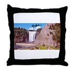 Montmorency Falls Quebec Sign Throw Pillow