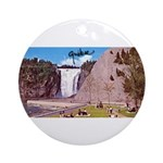 Montmorency Falls Quebec Sign Ornament (Round)