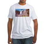 Montmorency Falls Quebec Sign Fitted T-Shirt