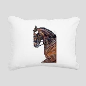 Dressage Rectangular Canvas Pillow