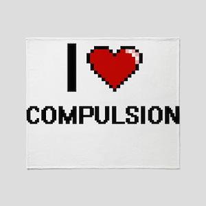 I love Compulsion Digitial Design Throw Blanket