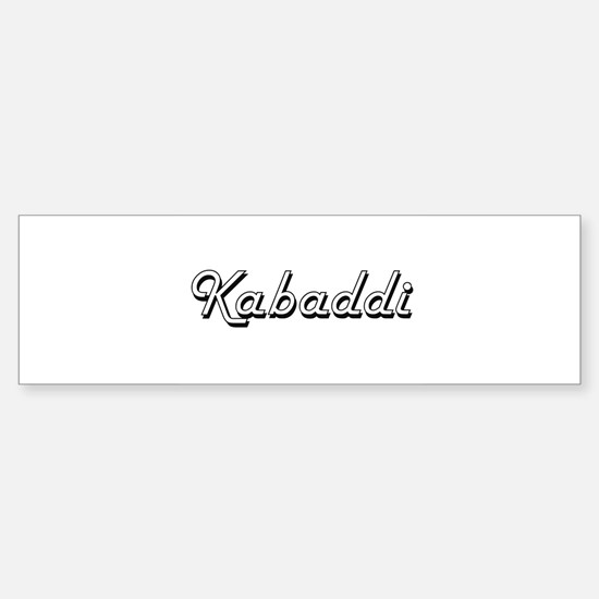 Kabaddi Classic Retro Design Bumper Bumper Bumper Sticker
