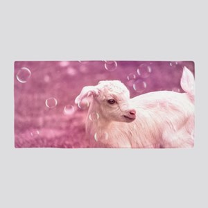 Baby Goat Whitey Beach Towel