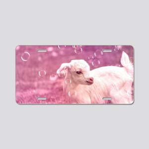 Baby Goat Whitey Aluminum License Plate