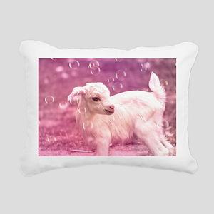 Baby Goat Whitey Rectangular Canvas Pillow