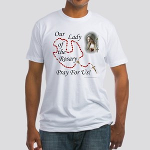 Our Lady of the Rosary Fitted T-Shirt