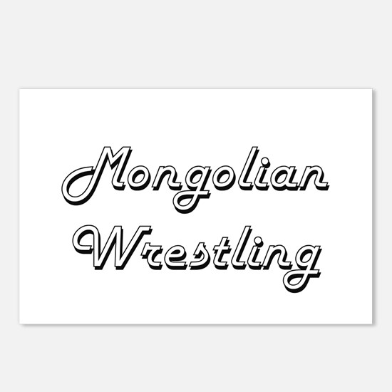 Mongolian Wrestling Class Postcards (Package of 8)