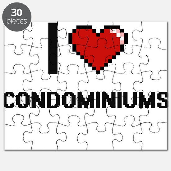 I love Condominiums Digitial Design Puzzle