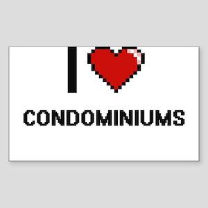 I love Condominiums Digitial Design Sticker