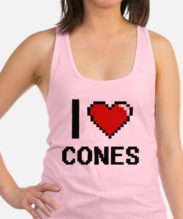 I love Cones Digitial Design Racerback Tank Top