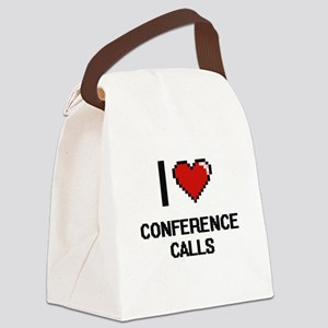 I love Conference Calls Digitial Canvas Lunch Bag