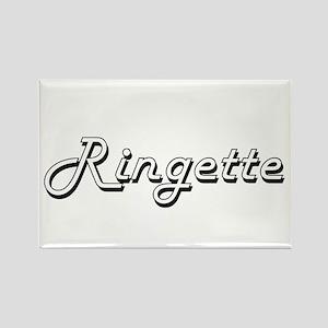 Ringette Classic Retro Design Magnets