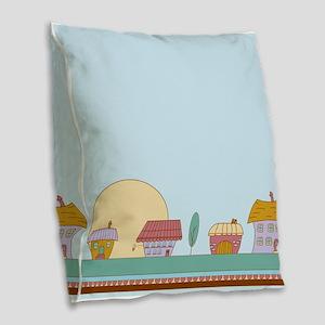 Good Morning, Sunshine Burlap Throw Pillow