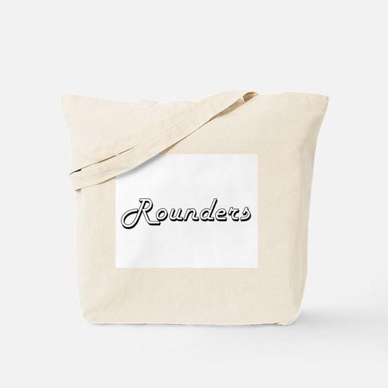 Rounders Classic Retro Design Tote Bag