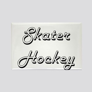 Skater Hockey Classic Retro Design Magnets