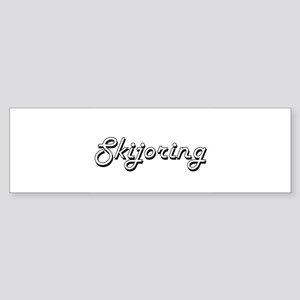 Skijoring Classic Retro Design Bumper Sticker