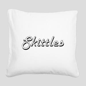 Skittles Classic Retro Design Square Canvas Pillow