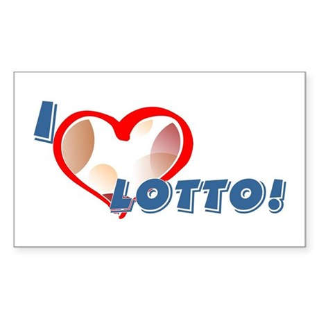 Lotto Rectangle Sticker