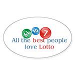 Lotto Oval Sticker